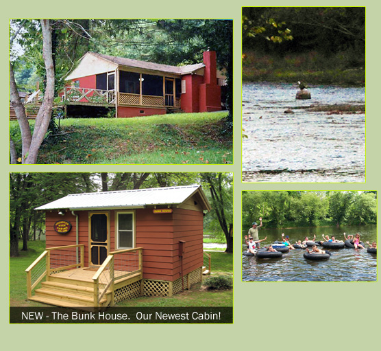 Greenbrier River Cabins Are Located In Beautiful Seebert West Virginia